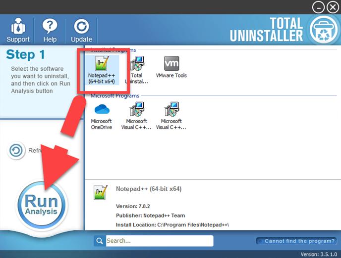 uninstall Notepad++
