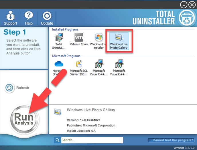 uninstall uninstall Windows Live Photo Gallery