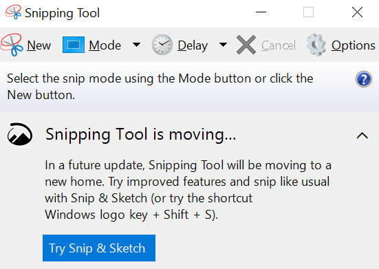 Uninstall Snipping Tool