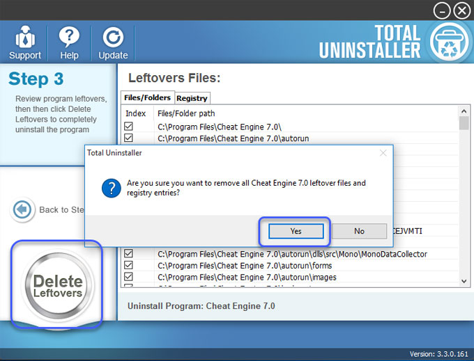 how to uninstall cheat engine
