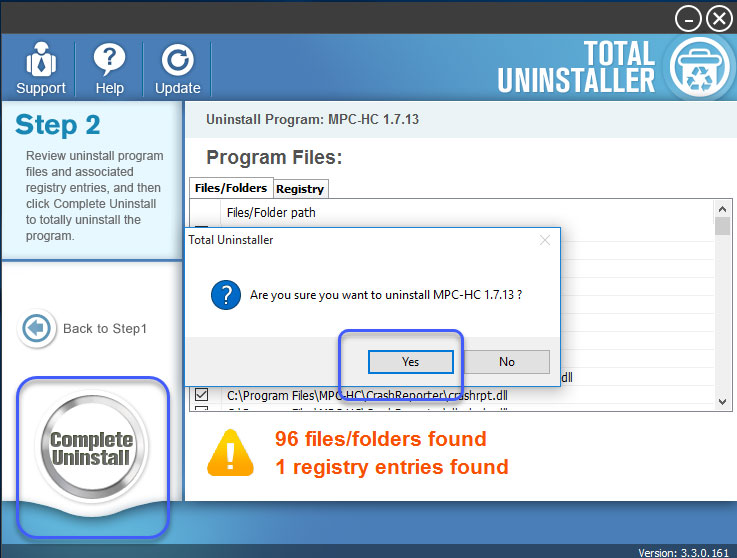 complete uninstall MPC-HC