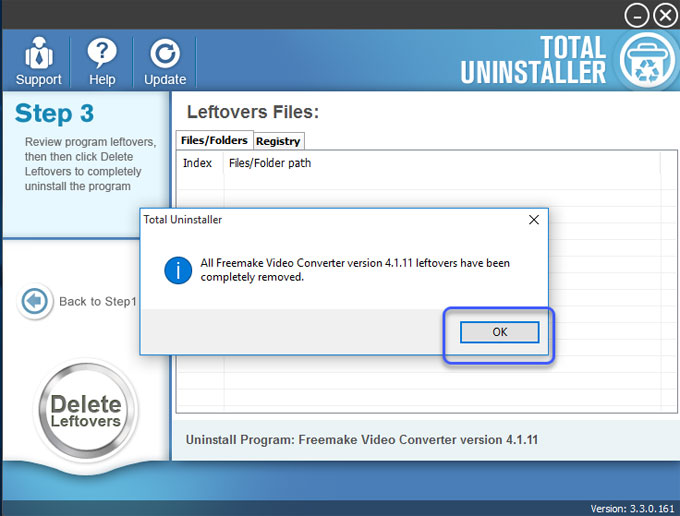 Uninstall Freemake Video Converter