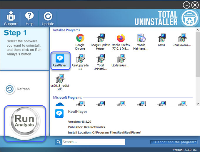 Uninstall RealDownloader