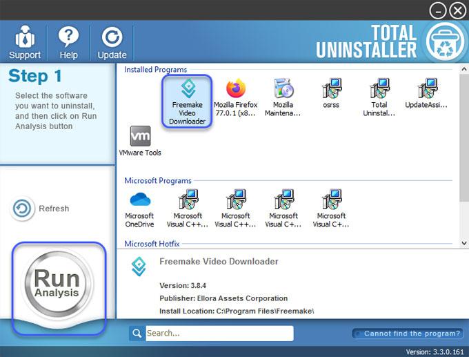 Uninstall Freemake Video Downloader