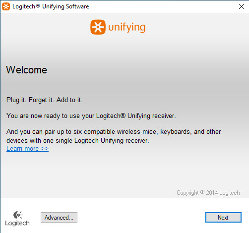 uninstall Logitech Unifying Software