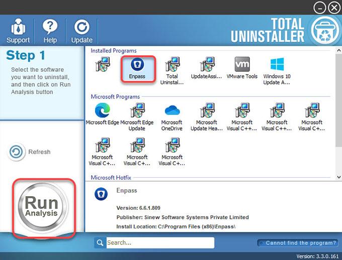 Uninstall Enpass Password Manager
