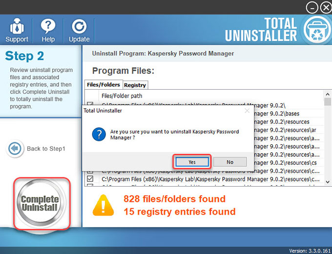 remove Kaspersky Password Manager