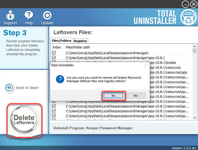 delete Keeper Password Manager leftovers