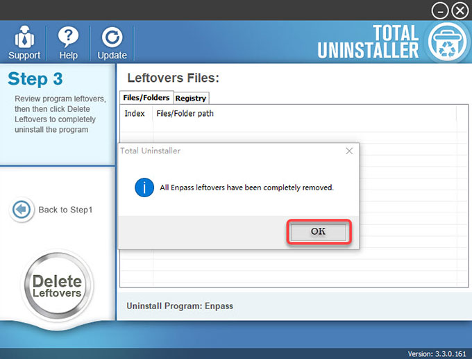 Enpass Password Manager is uninstalled