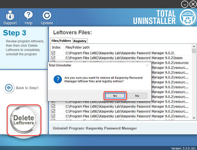 Delete Kaspersky Password Manager leftovers