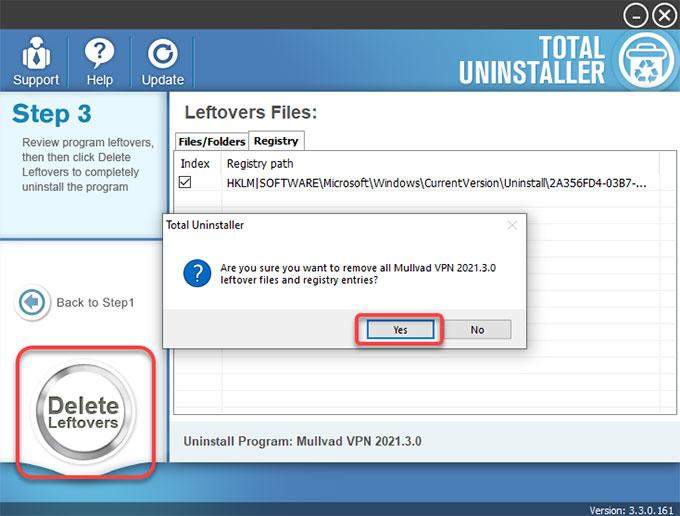 delete Mullvad VPN leftovers