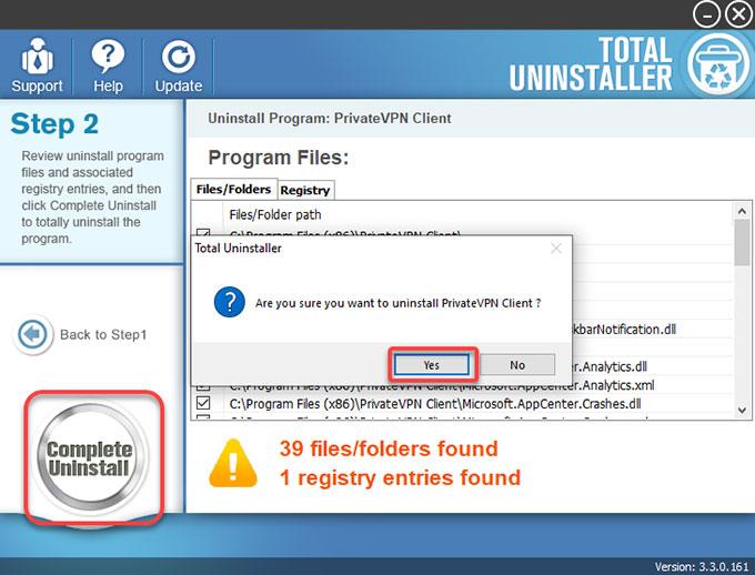 Complete Uninstall PrivateVPN