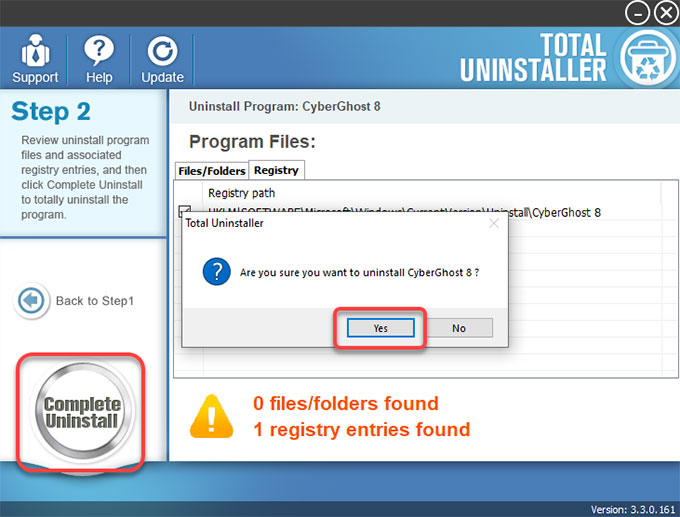 complete remove CyberGhost VPN