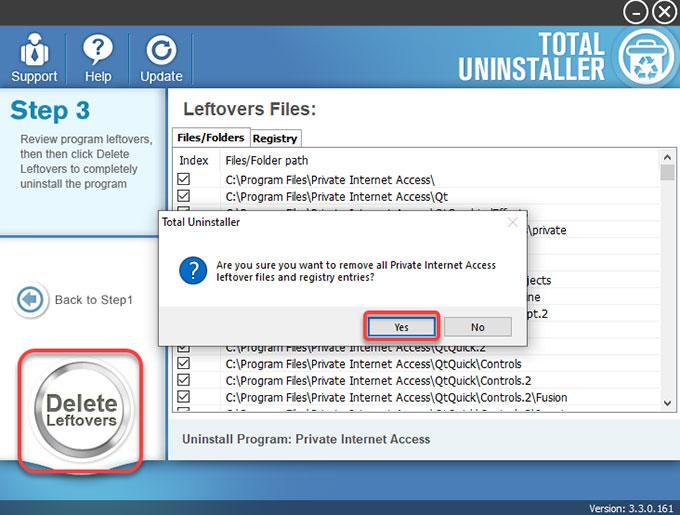 delete Private Internet Access leftovers